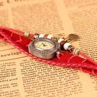 античная старинные часы с кожаным ремешком браслет ручной вязки прекрасный кролик высокое качество для дамы прямая поставка высокое качество оптовая продажа