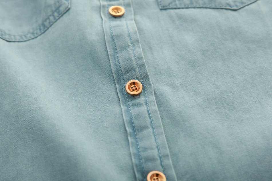 1119 лето мода хомбре туника джинсы кнопки Европа Seal блузка топы L / хl