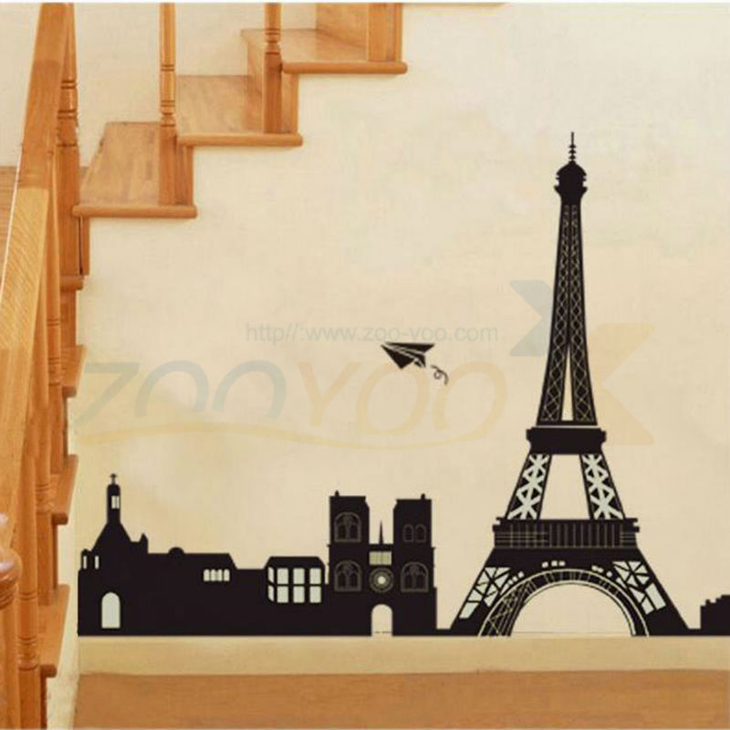 I Love Paris Eiffel Tower World City Symbol Wall Decal Zooyoo2149 Decorative Adesivo De Parede Removable Pvc Wall Sticker Stickers Bamboo Sticker Cubesticker Control Aliexpress