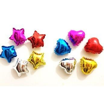 """довольно маленький 5 """" 50 шт. = 25 шт. форме сердца + 25 свадьба шар свадьба день рождения ну вечеринку надувные баллоны алюминиевой фольги птица"""