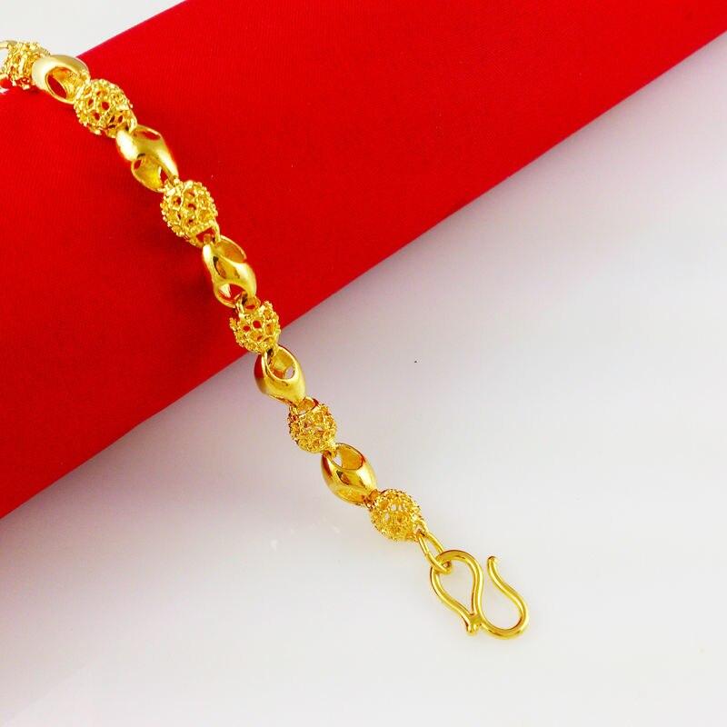 2017 New bracelet! Wholesale Free shipping gold color bracelet ...