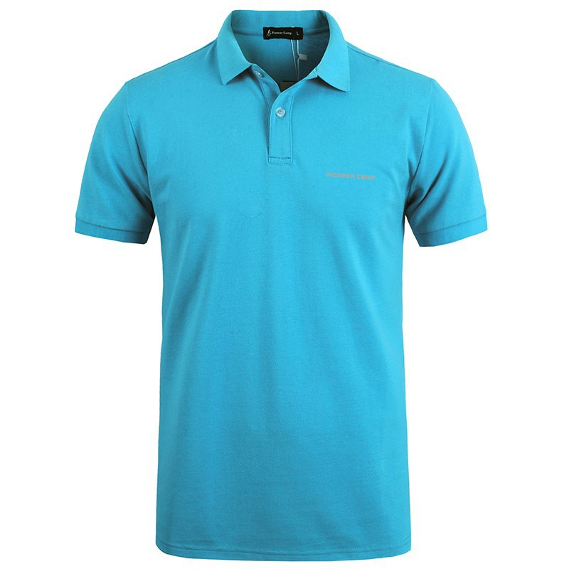 Men Polo Shirt Men Business Casual Solid Male Polo Shirt Short Sleeve High Quality Pure Cotton 28