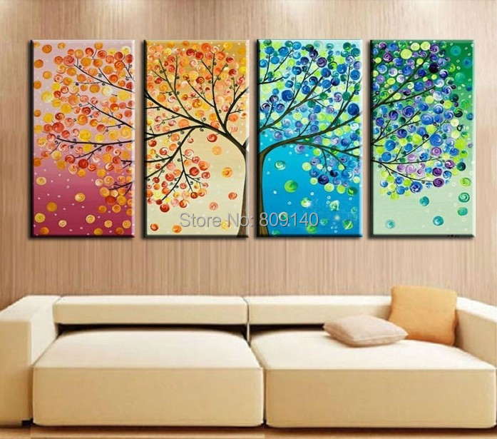 Amazing Landscape Oil Painting Canva Beautiful Abstract Life Tree Handmade Quality  Home Office Hotel Wall Art Decor Decoration Free Ship In Painting U0026  Calligraphy ...