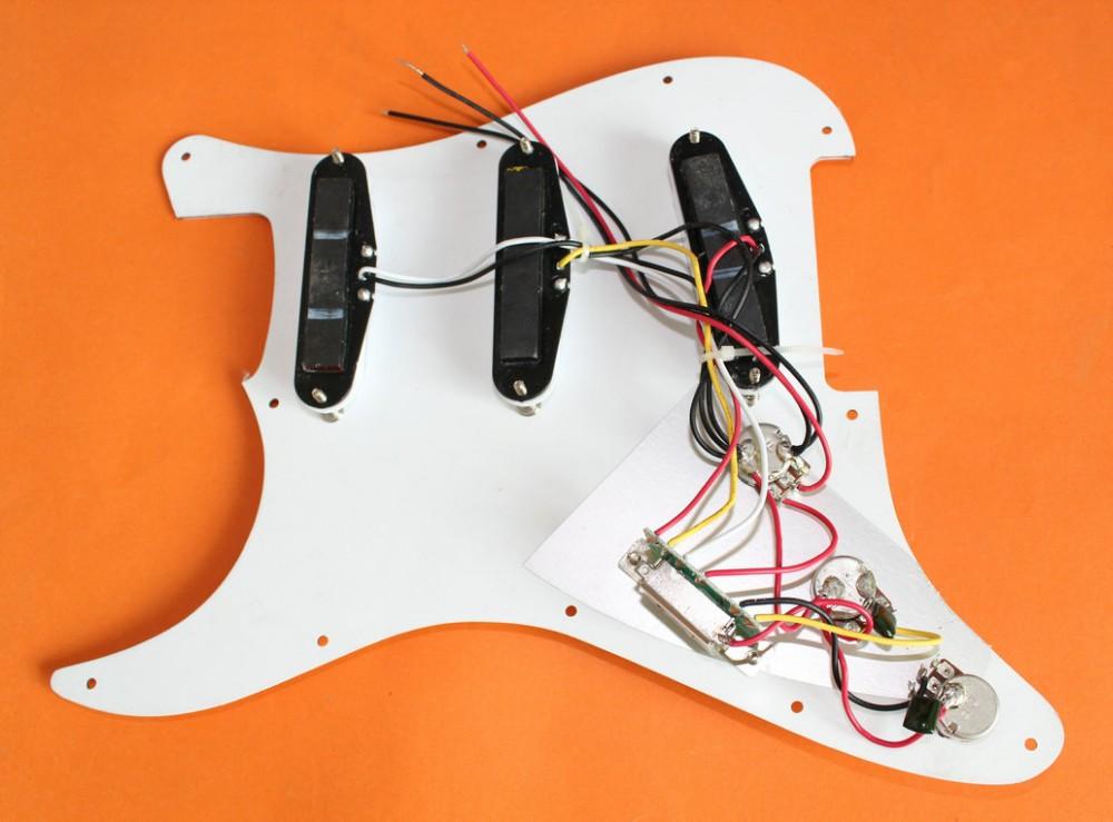 белый жемчуг гитара встроенный кабель накладку ССС загружалась подходит используется для стиль гитара стратокастер