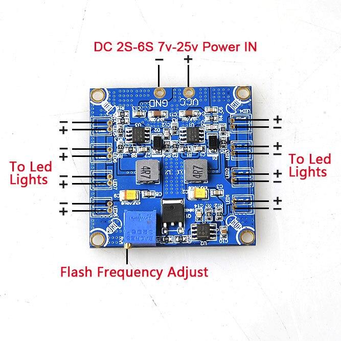 F07948 RC LED Flashing Night Light Control Board Module No Connector ...