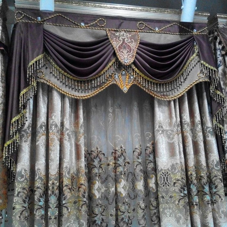buy curtains home application embroidery lace curtain luxury blinds finished curtain tulle cortinas cortinas para sala bead curtains from