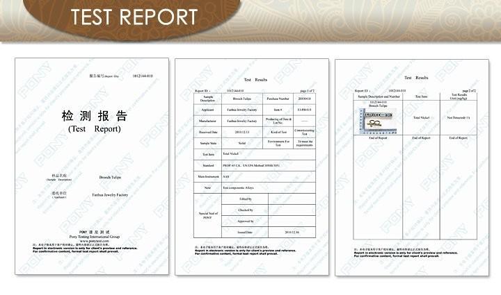 Jewelry Test report