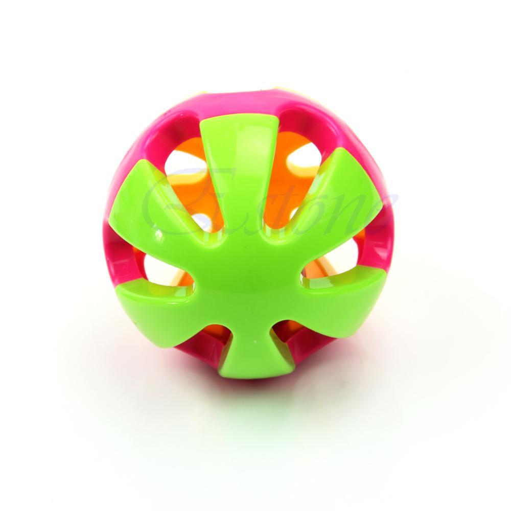 Kids Gift Baby Hand Shaker Bell Jingle Ring Rattle Ball Musical Instrument IT