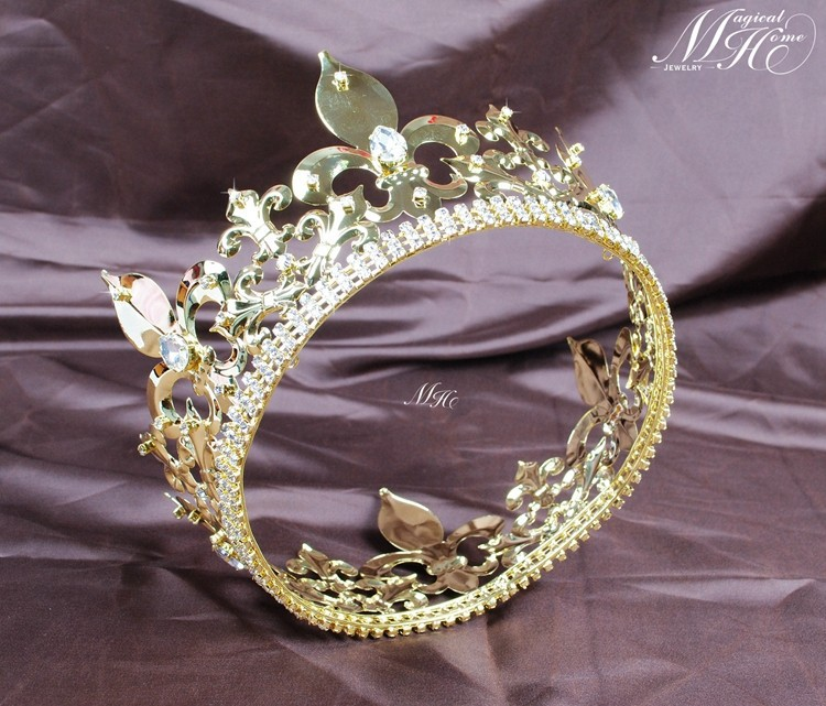 cristal e tiaras completo rould ouro diadema