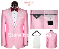 новый топ бренд костюмы деловые костюмы розовый / синий / желтый свадьба Smoking mod платье костюмы с-XXXL осенняя