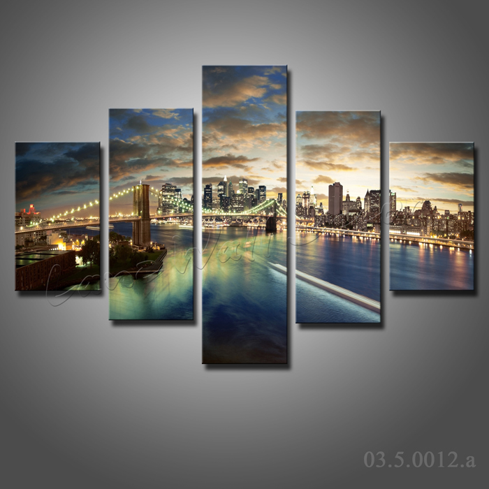 NO FRAME CANVAS ONLY 5 pieces100x70cm large wall art painting ...