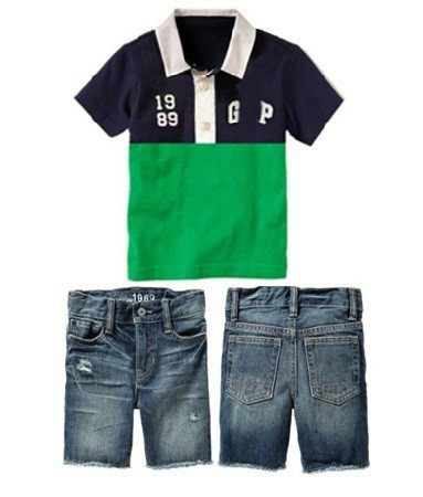 5399168d Summer Boys POLO Short Sleeve Slash T-shirt + pants suit Children boy  yellow shirts + plaid shorts set two-piece baby clothing