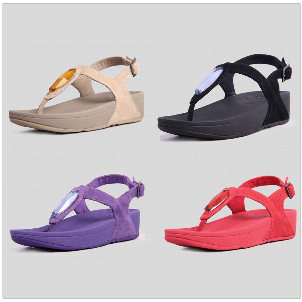 dd7a9611d893b wholesale rock chic sandals brand womens flip flops wedges platform diamond  slides black