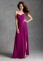 просто милая щели стиль светло-розовый Chef невесты платье женская линия без рукавов с выпускного вечера платья ну watering