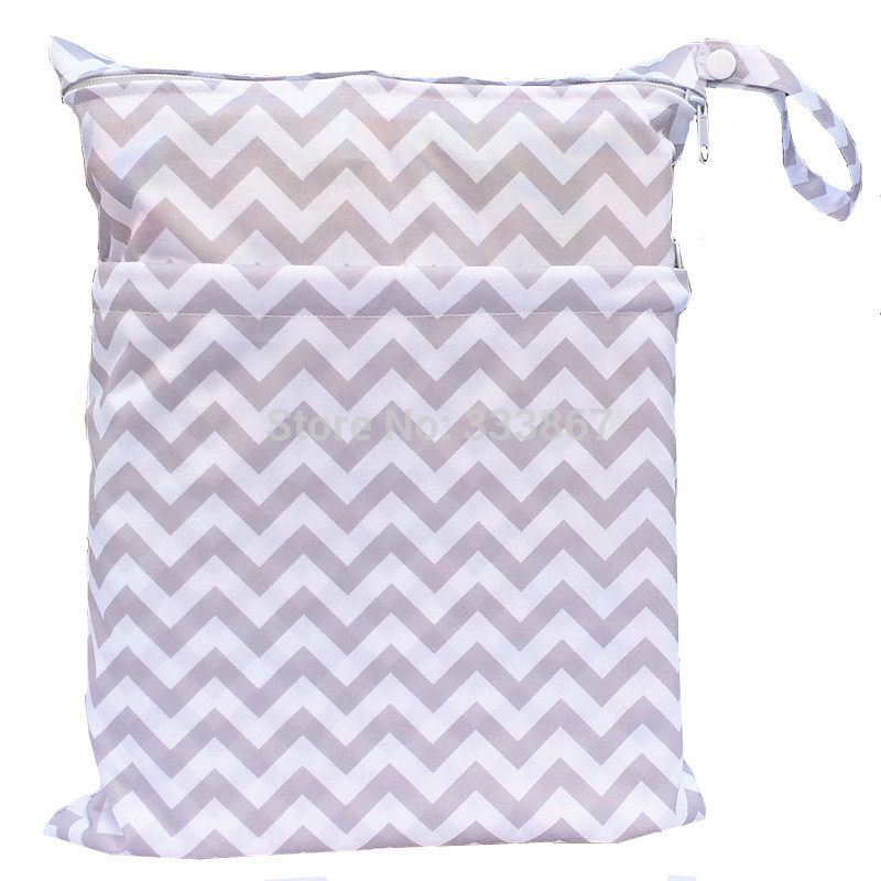 HT1e1NcFQ0cXXagOFbXt [Sigzagor]Wet Dry Bag, With Two Zippered Baby Diaper Bag, Nappy Bag, Waterproof, Reusable,Washable Grey Gray Chevron Zigzag