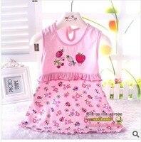 детские платья девочки laden хлопок одежда без рукавов платье лето одежда печать + вышивка 0 - 2 год