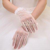 новые короткие цветы свадебное платье перчатки люкс для невесты свадебные перчатки-свадебный аксессуары-перчатки