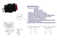 п16-503ad 16 мм светодиодные кнопочный переключатель