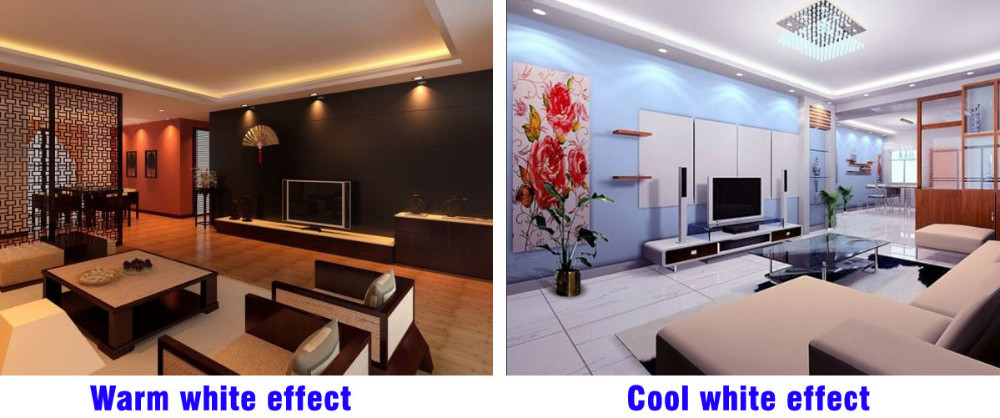 Cool white and warm white LED strip
