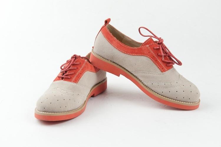 новый бренд квартиры оксфорды женщин из натуральной кожи башмаки туфли из древесины - британский - ее туфли классический стиль