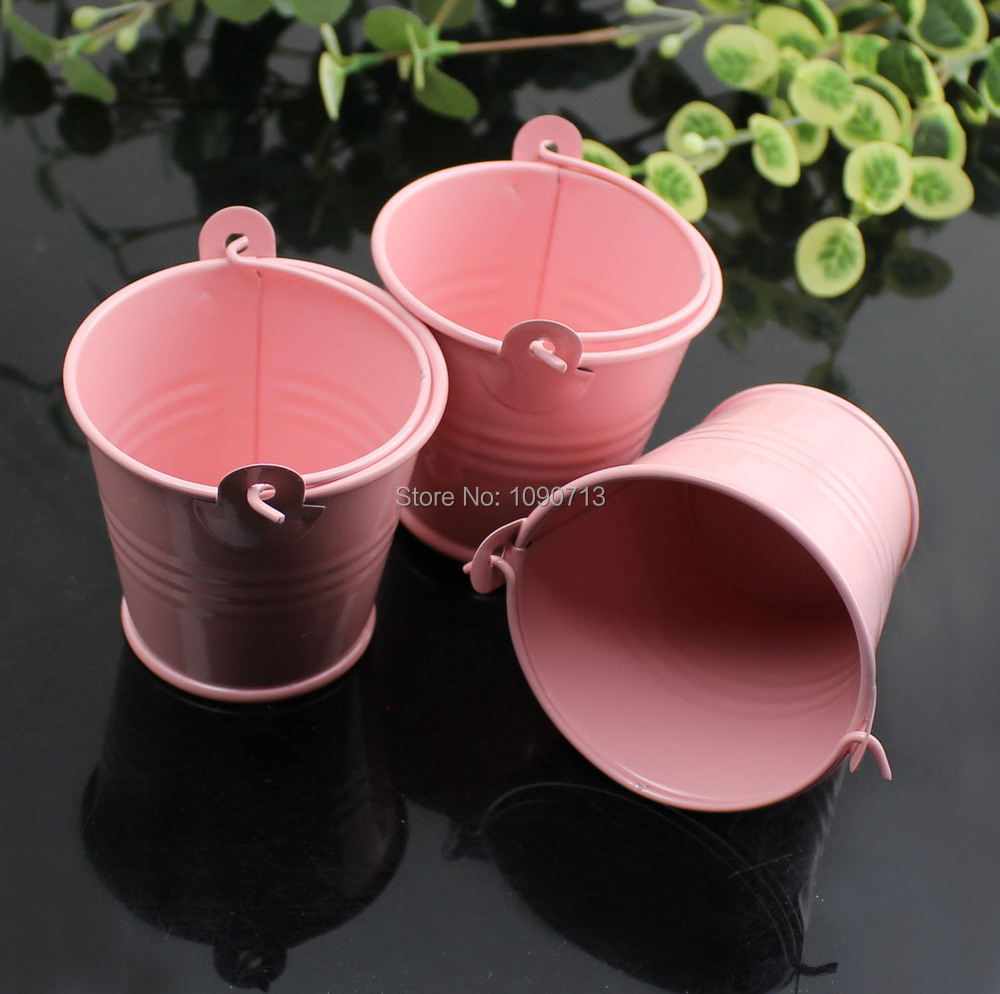 Free Shipping 20 X Pink Mini Wedding Candy Buckets Party Gift Pails ...