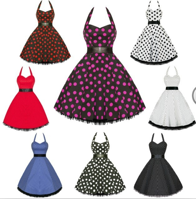 Free Shipping Rockabilly 50s Vintage Evening Retro Swing Dance ...