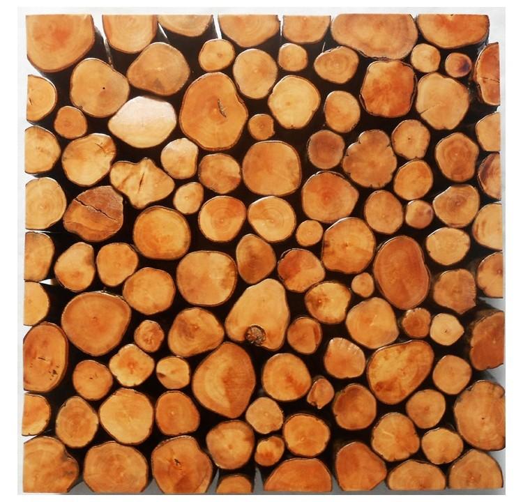 Rustic Wood Tile Mosaic Pattern
