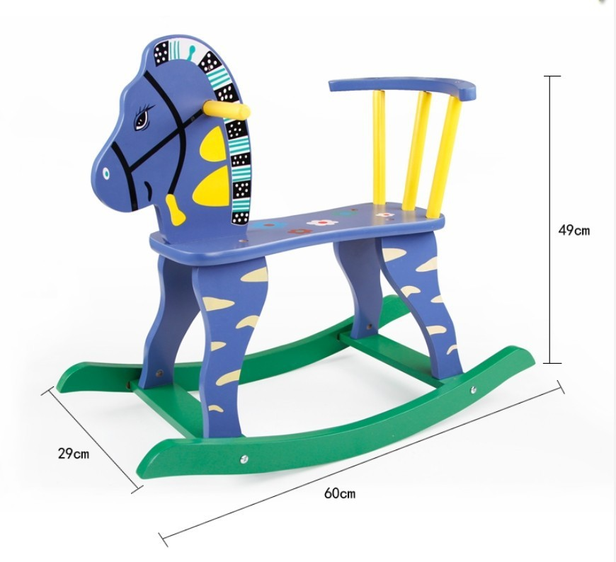 Outstanding Wooden Cartoon Children Hobbyhorse Rocking Chair Toy Trojan Squirreltailoven Fun Painted Chair Ideas Images Squirreltailovenorg