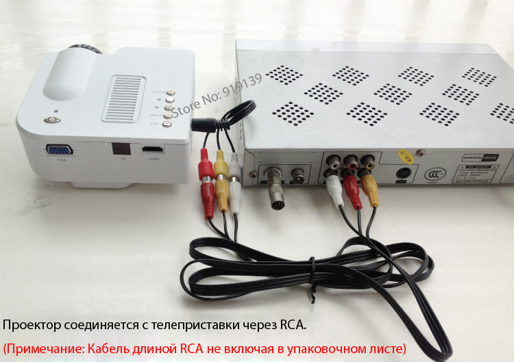 UC28 Projector connect with set-top box