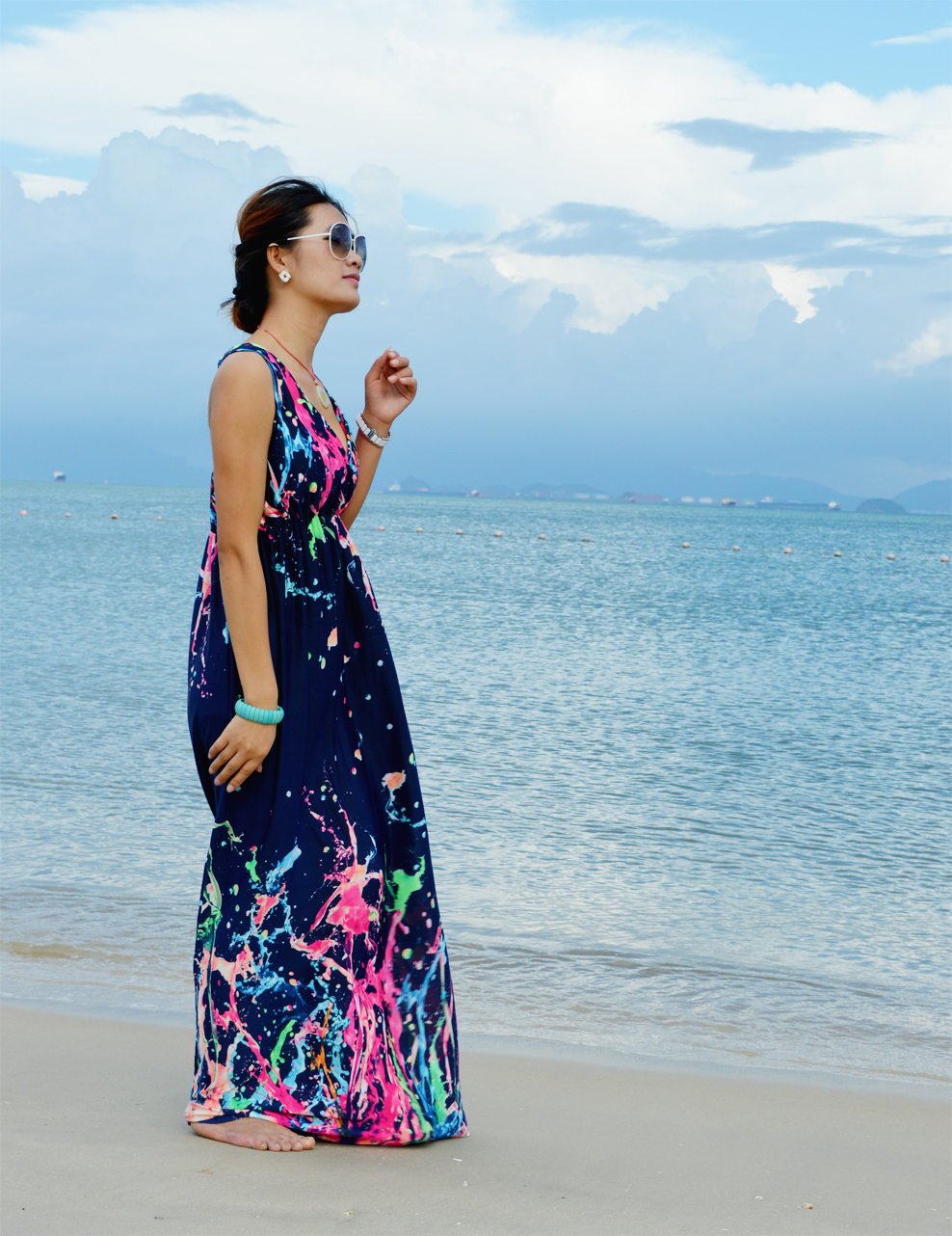 Women Summer Dress 2018 Printed Bohemian Beach Dress Plus Size 5XL ...