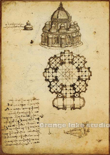 Leonardo Da Vinci manuscripts The Italian Renaissance home decor ...