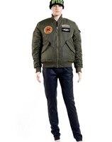 дым средней высоты новое! мужские ма1 сша военный пилот работа обивка куртка 3 цвет