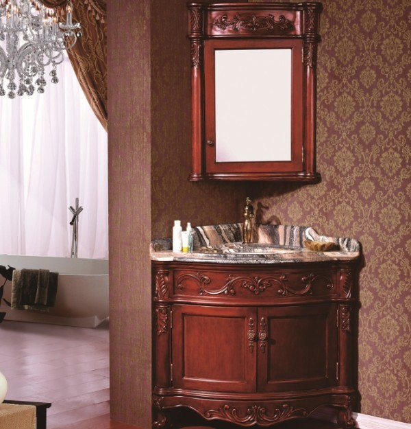 high quality cheap price wooden classical corner bathroom vanity corner bathroom mirror vanity corner bathroom sink vanity