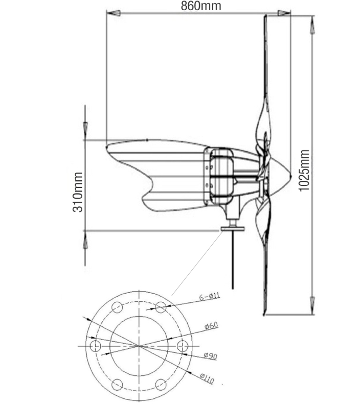 C300 Wind Turbine 300w Wind Generator In Alternative Energy
