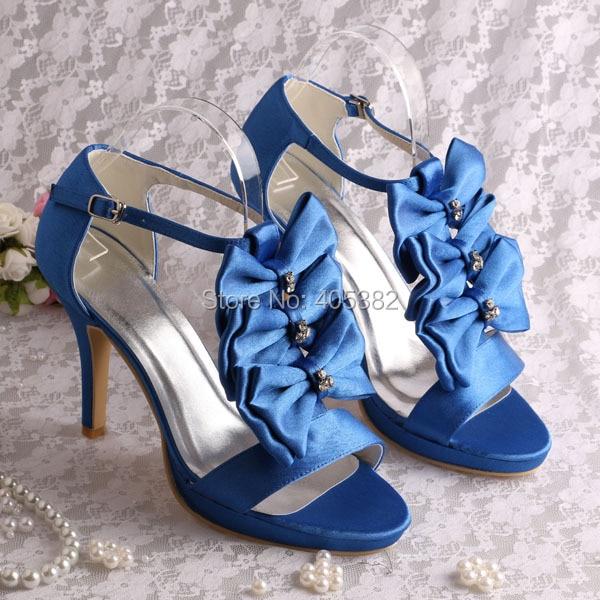 d60f1e05817 Wedopus MW502 Women  s Evening Pumps Peep Toe High Heel Bows Satin Wedding  Bridal ShoesUSD 46.00 pair