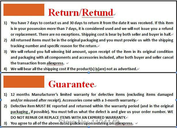 return and guarantee1