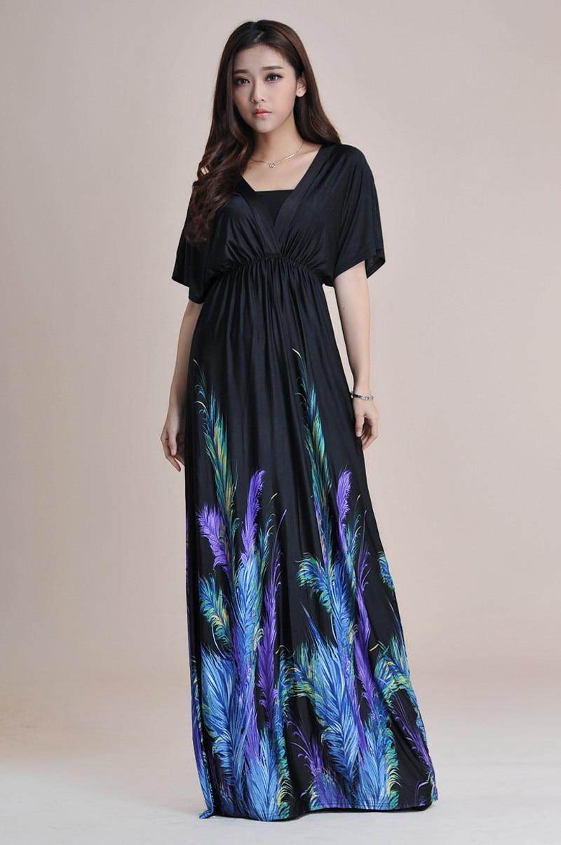 Boho Print Maxi Dress 6XL 2