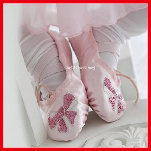 бесплатная доставка розовый дети балет туфли для десятки
