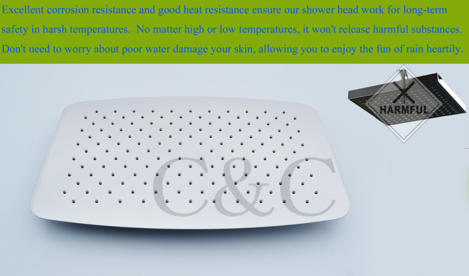 ванная комната ванна дождь установить термостатический для душа клапан нло ультра-тонких дождь душ с носик