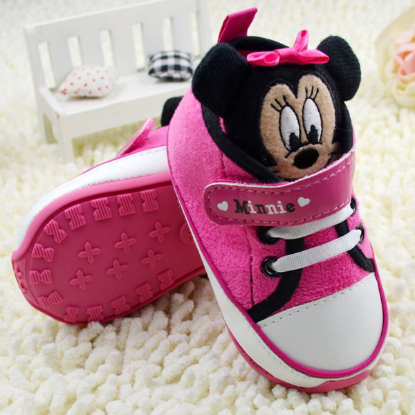 50692709d60 Rubber Sole baby shoes first walkers pink cute girl shoes for age 1 ...