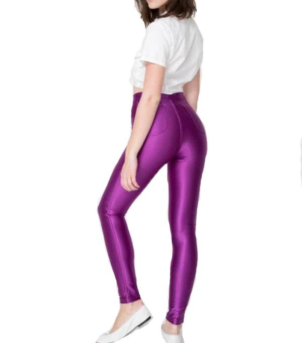 bl06 европа стиль новое женщины высокой талией неон цвет брюки кнопка молнии твердые конфеты цвет диско весна осень бесплатная доставка