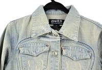 корейский женщины в дамы свободного покроя светло-синий прекрасный джинсовый деним куртка пальто / М / Л