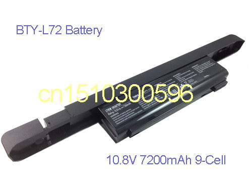 US $75 89 |10 8V BTY L72 9 Cell Battery for MSI TARGA Traveller 1591 1720  ML42 Traveller 1726 XP2 Laptop-in Laptop Batteries from Computer & Office  on