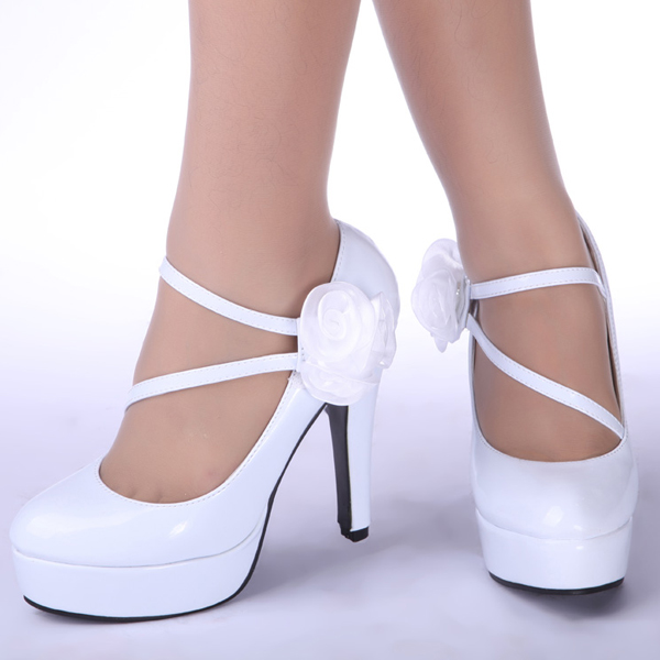 Fashion Ankle Belt Flowers Bridesmaids Prom Party High Heels