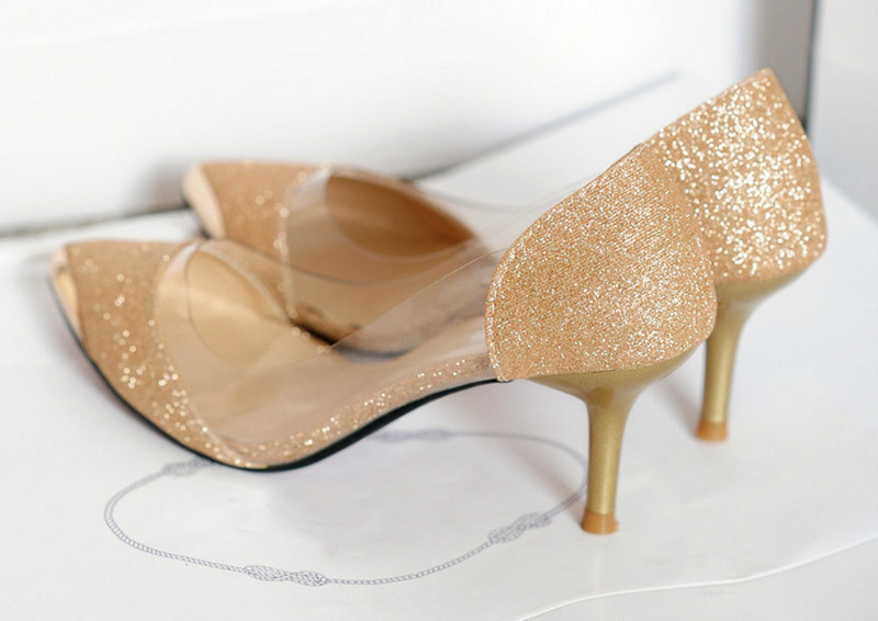 2014 Fashion for Spring And Summer Lady Shoes Gold Women High ...