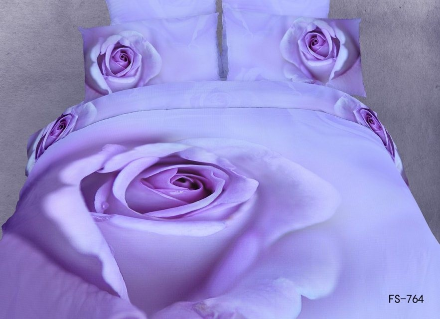 новое постулат фиолетовый цветок красочные постельное белье плюсы постельное белье комплект одеяло чехлы для Manga постельное белье полный королева размеры