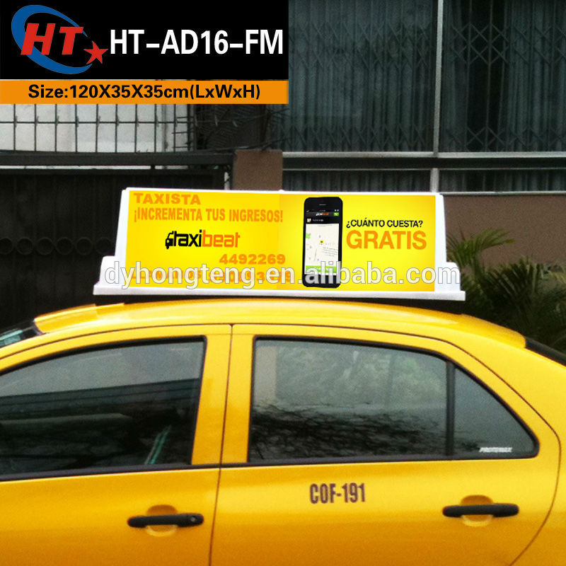 Manufacturer High Quality Taxi Top Roof Advertising Light Box ...