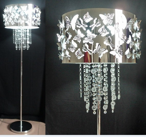 Promotion Quality Stainless Steel Butterflies Lampshade Cover k9 ...