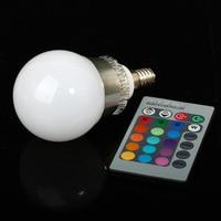 Лампочка RGB E27 E14 5 /10 ac85/265v