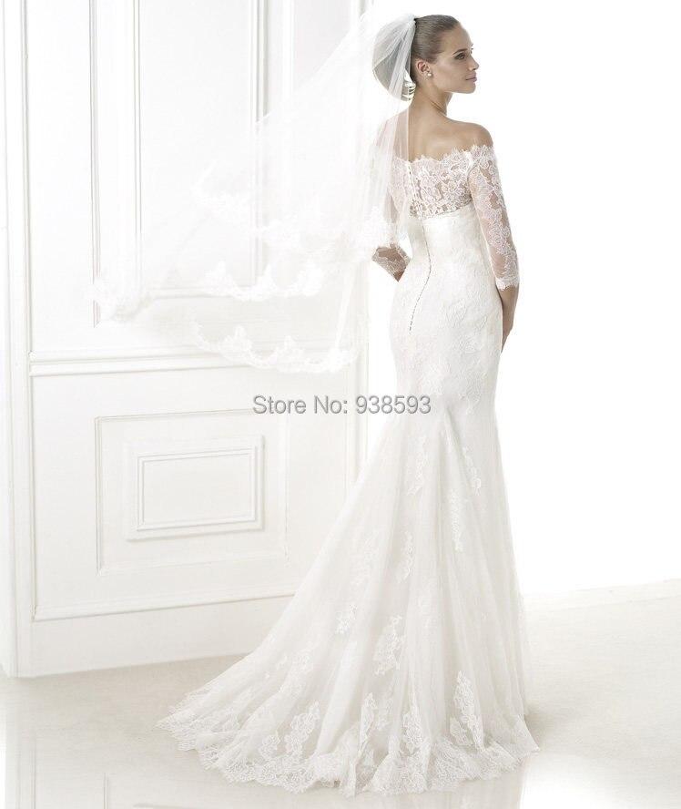 vestidos de novia manga 3 4 encaje 2d327d232a29